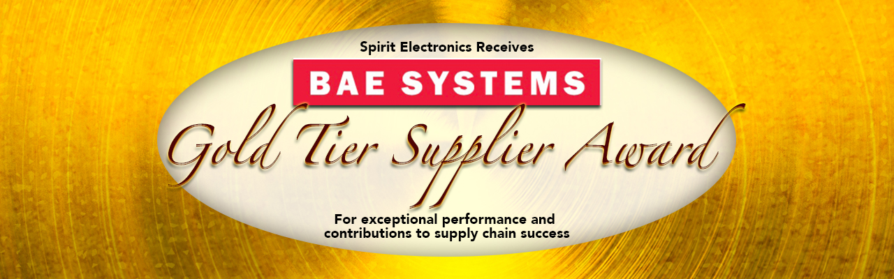 Spirit Electronics Receives BAE Systems Gold Tier Award