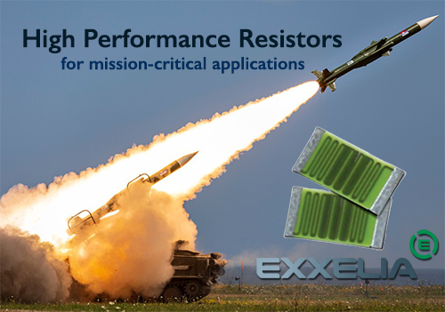 Exxelia resistors for military and aerospace applications
